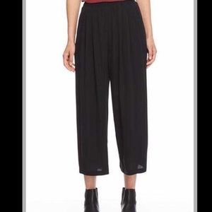 Eileen Fisher Crepe Pants Black Size Small